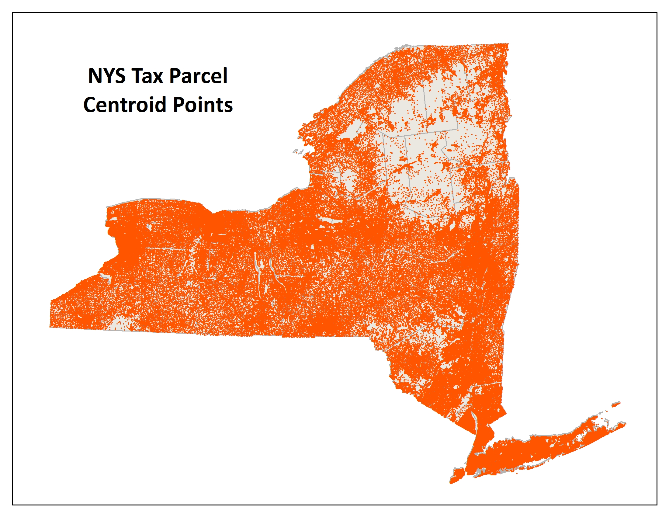 2014 Oneida County Tax Rolls - Nys tax parcel centroid points